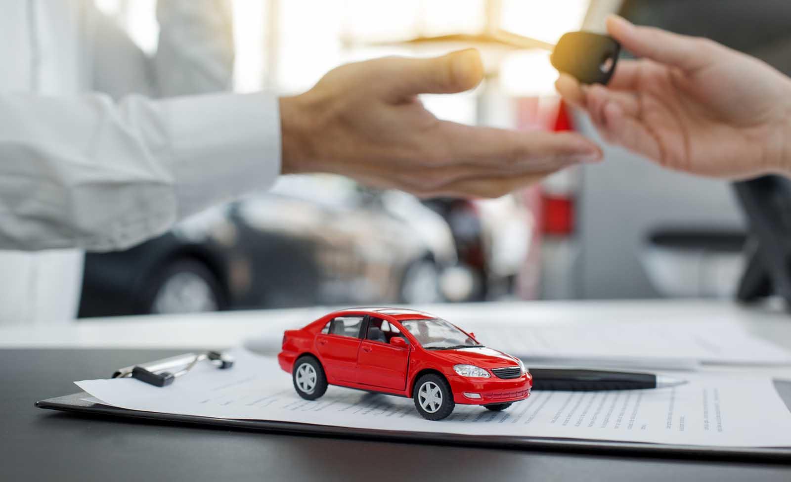 Asociatyvinė automobilių lizingo iliustracija